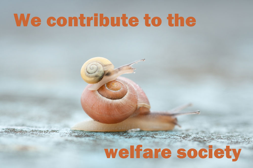 We contribute to the welfare society